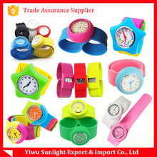 round dial silicone wristband Watch kids slap digital watches