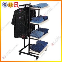 Multifunctional display rack for clothes gondola racking