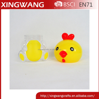 FDA Enviromental protection kids favor cartoon design chicken food candy plastic jar wholesale