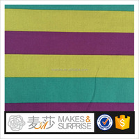plain dyed stripe cotton fabric,wide colorful stripes printed cotton shirts voile wholesale,China supplier