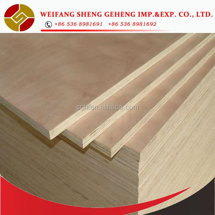 China manufacturer supply best price18mm commercial plywood