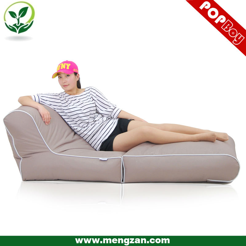 In/Outdoor folding fabric beanbag bed/chair furniture, foldable design for easy storage