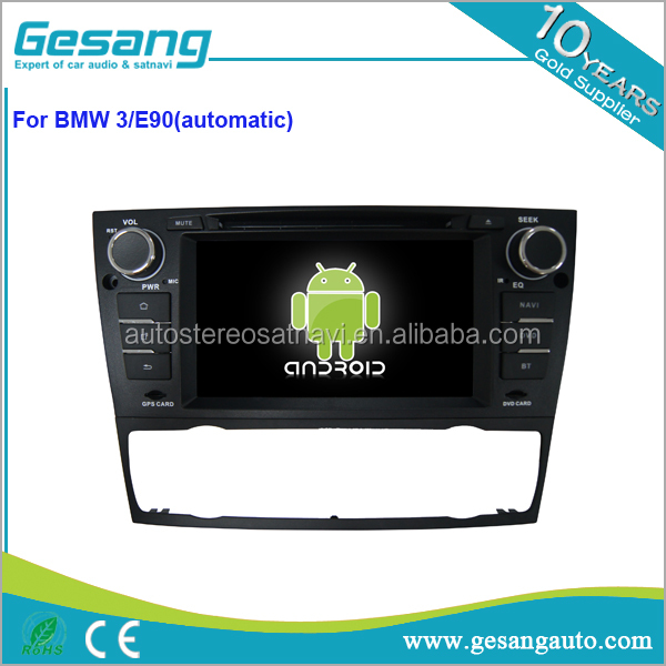 factory wholesale android 6.0 2 din special car audio for E90 ( automatic ) with GPS OBD DAB+ TPMS TV steering wheel control