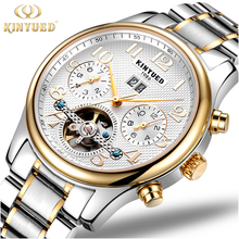 Multi Functions Automatic Mechanical Watch 30m Waterproof Stainless Steel Skeleton Wrist Watches for Men