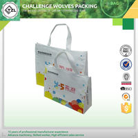 Laminated pp woven shopping tote bag