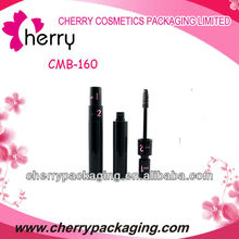 2014 New charming round double end plastic mascara bottle for cosmetics packaging