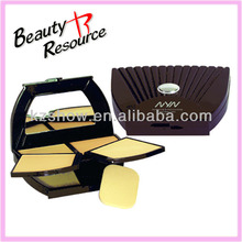OEM!!!Makeup waterproof mineral compact powder/press powder case with puff