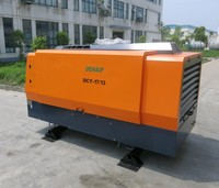 Skid mounted air compressor diesel engine