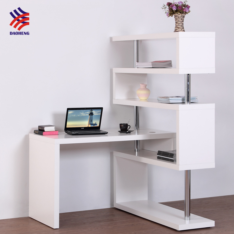 Furniture Recliner Laptop Display Bed Desk Top With Bookshelf Computer Study Design Book Rack Wooden Wall Shelf Foldable Table