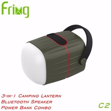 multi-functional power bank camping lantern with cell phone charger for outdoor lighting