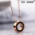 Fashionable Circle Rose gold plated pendant Shell stainless steel Necklace