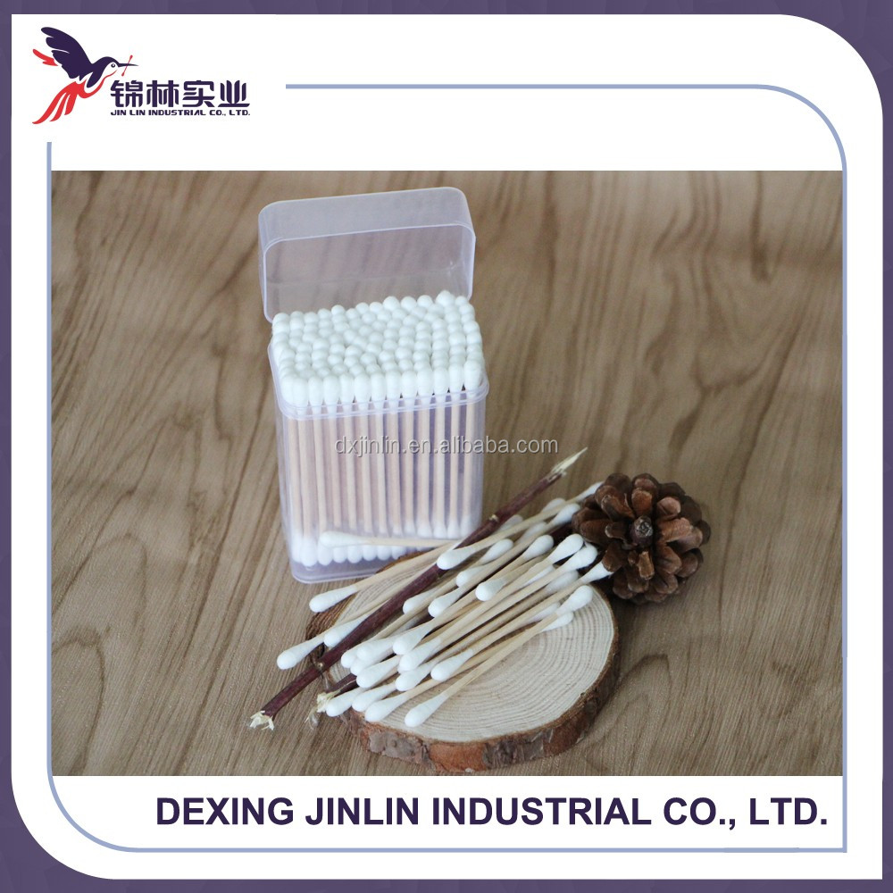 sterile individually wrapped cotton swab with wooden sticks