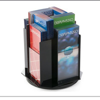 Acrylic Rotating Literature Holder with 4 Pockets for 4