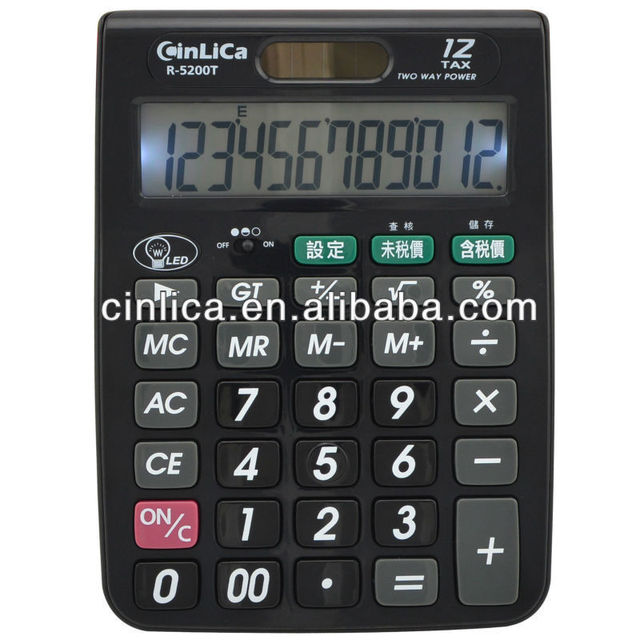 customized calculator with light/ calculator solar cell/ printing calculator