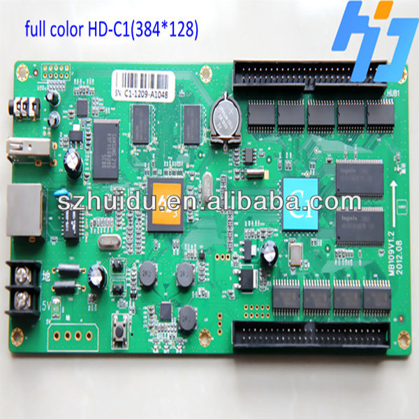 led display szsbc control card c1 pixel 384x128,3G,WIFI, internet,video audio output