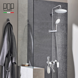 water saving thermostatic shower set surface mounted shower faucet