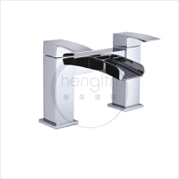 dual lever deck mounted bath filler