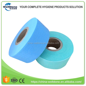 Blue adl thick adult baby raw material for diaper nonwoven textile