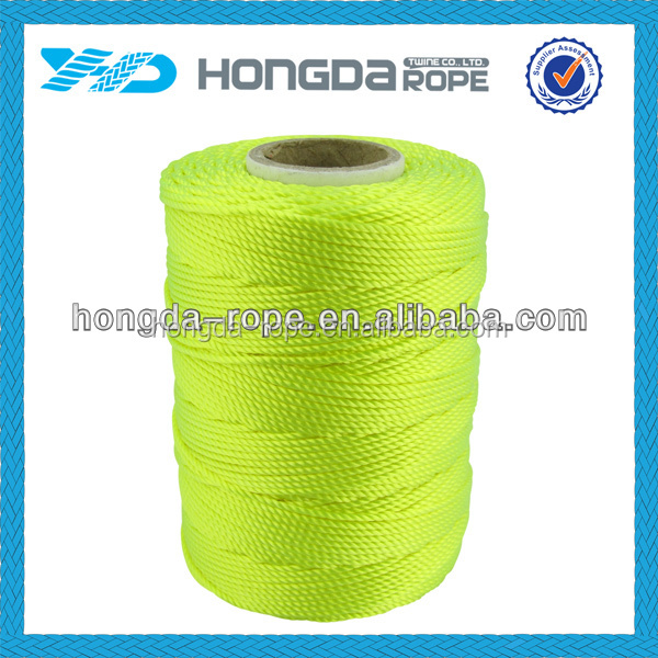 fluorescent nylon braided rope 1.6mm nylon cord
