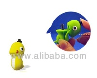 Snake USB Flash Drive, USB memory stick, USB flash disk, pen drive, Promotional Gifts (Yellow)