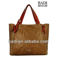 2013 pu bags woven faux leather handbags daily use handbags