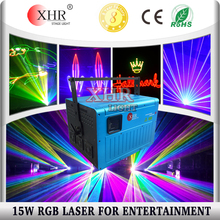 High Power 15w RGB Laser Projector for Outdoor Advertising Logo Projection