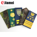Custom uniform silicone rank military shoulder epaulet
