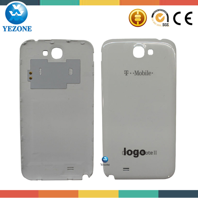 Brand New T Mobile i317 Battery Door Cover For Samsung SGH-i317 Galaxy Note II Back Housing white, For Samsung Note 2 Back Cover