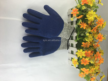 Blue nitrile rubber safety gloves cut resistant working glove