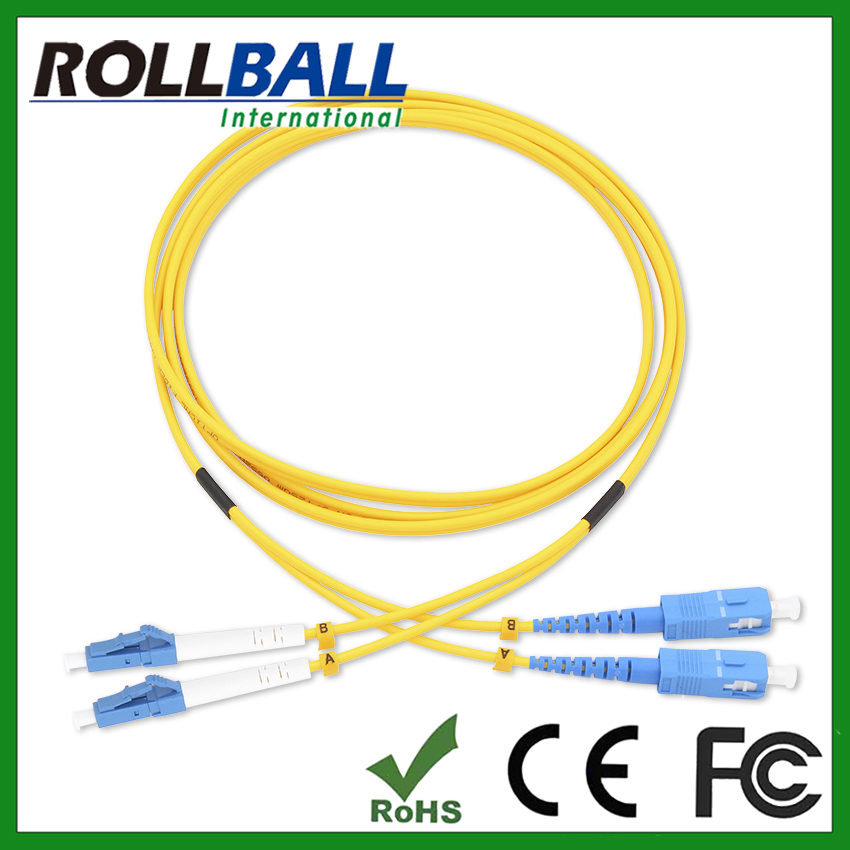 hot selling 9/125 singlemode OS1 2mm sc upc fiber optic patch cords to connector LC,MU,FC,ST