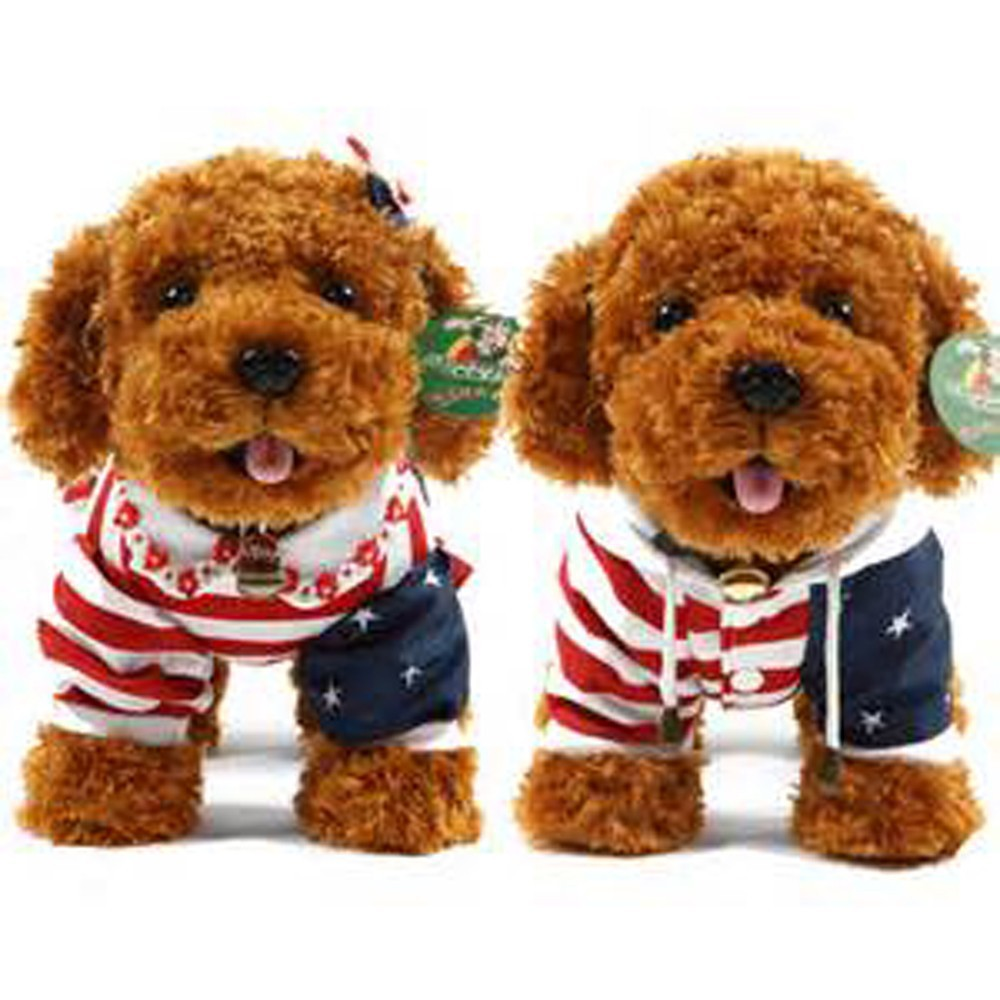 dancing dog russ stuffed toys,talking stuffed animals,stuffed toy poodle