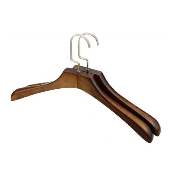 wooden hanger with velvet bar trousers clips wooden hanger guangdong supplier wooden hanger