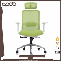 Young Green color nylon armrest mesh swivel office chair high back mesh chairs