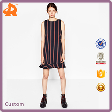 Wholesale Women New Design Striped Sleevelss Mini Dress