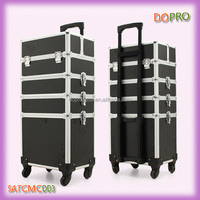 Black 4 in 1 professional make up artist trolley case