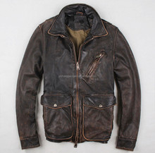 the latest design high quality cowskin leather jacket for men
