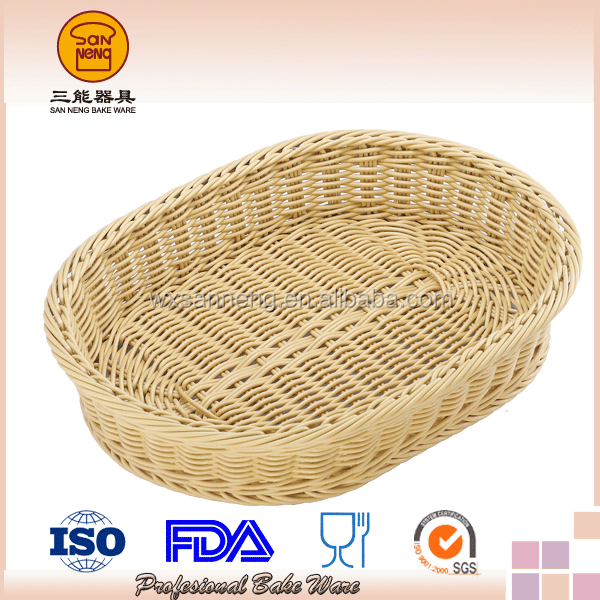 OEM Design Cotton Canvas Natural Color Oval Bread basket