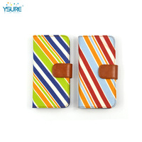 2015 New Design Lovely Stripe Pattern Denim leather Case For Pantech FLEX P8010 with special stand back up