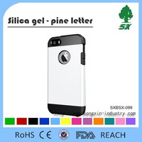 Full protective Silicone+PC mobile phone case/cell phone shell for phone 6/6 plus