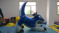 2016 hot sale giant inflatable blue dragon for advertising