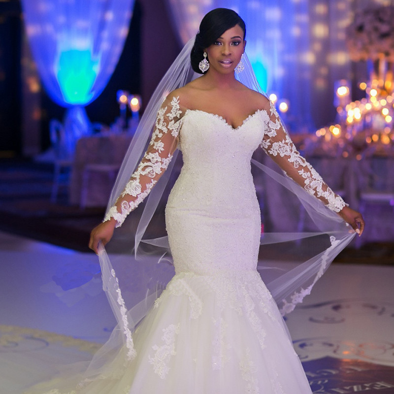 2018 Design Hot StrongStyle Strong Bridal Gown African Women Customized