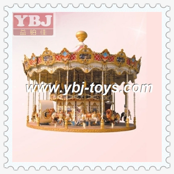 Wholesale China Carousel Children Beautiful used horse merry go rounds for sale