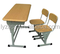 School children study desk and chair adjust table height