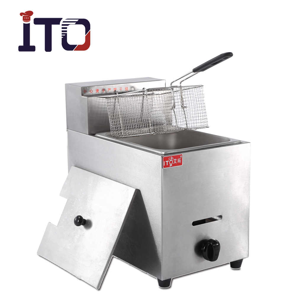 CI-71 single basket gas tempura deep fryer