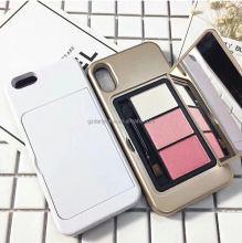 Danycase Beauty Makeup Cell Phone Case Mirror, Eyeshadow Palette Vanity Mirror Phone Case with Mirror Bling