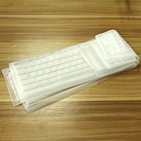 oem various custom color soft silicon waterproof keyboard cover