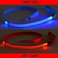 PLTR-14 strip print New arrival Wholesale dog leash lead/ Pet Collar Flashing LED Lighted Dog lead, Dog Harness/Pet Leashes