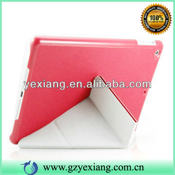 2014 Red Color Ultra Slim For Ipad 5 Smart Cover Leather Tablet Case Cover