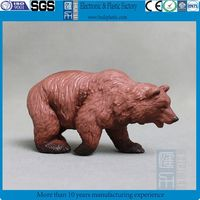 plastic bear wild animal figure/3d custom mini animal figurine toy /custom plastic pvc wild animal mini figure