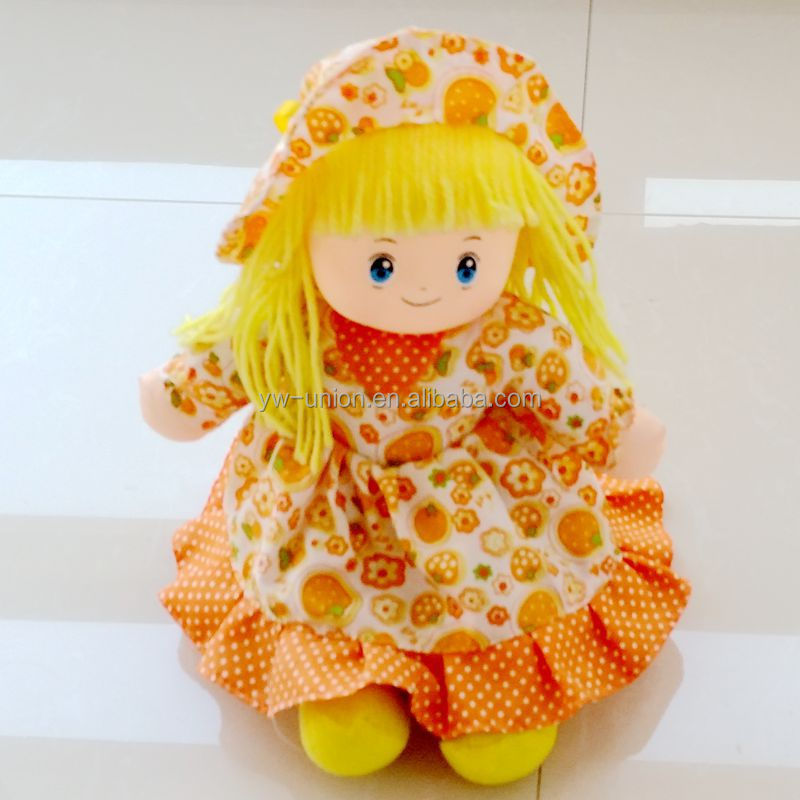 Excellent Quality cute girl fabric cloth dolls